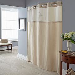 Herringbone 2 Pc Fabric Shower Curtain Liner Set