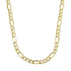 Everlasting Gold 14k Gold Figaro Chain Necklace - 24 in