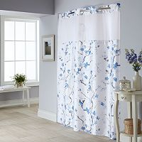 Cherry Blossom 2-pc. Fabric Shower Curtain & Liner Set