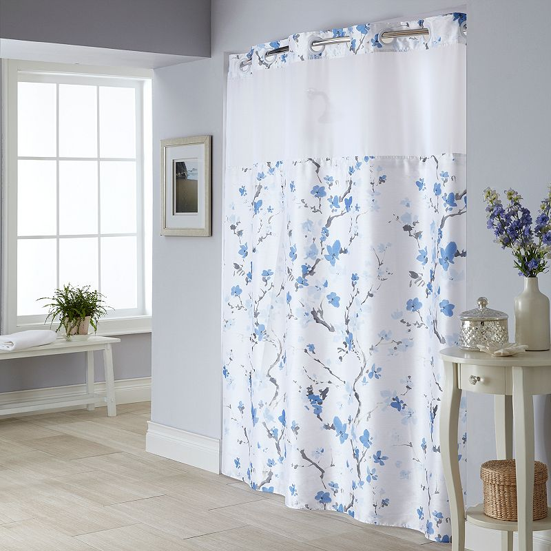Blue Polyester Shower Curtain Kohl 39 S