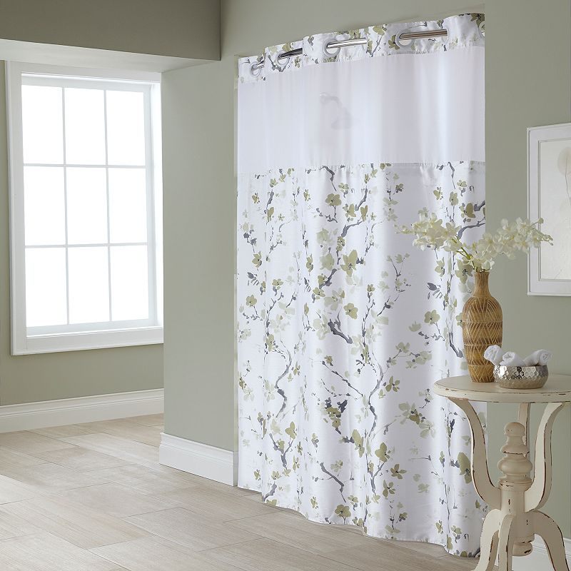 shower curtains fabric hookless images