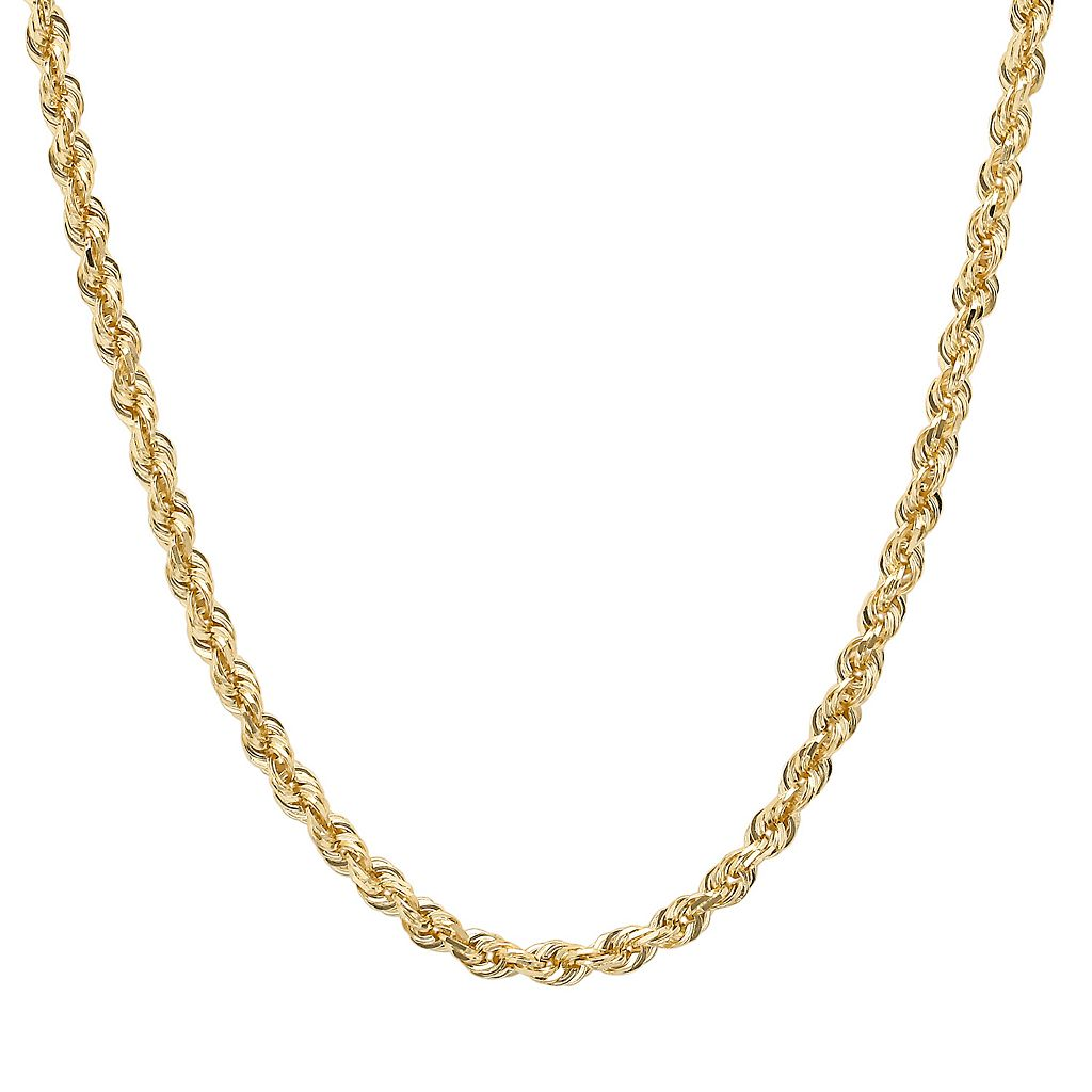 Everlasting Gold 14k Gold Rope Chain Necklace - 18-in.