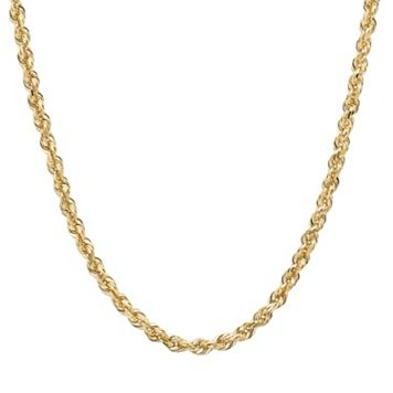 Everlasting Gold 14k Gold Rope Chain Necklace - 24-in.