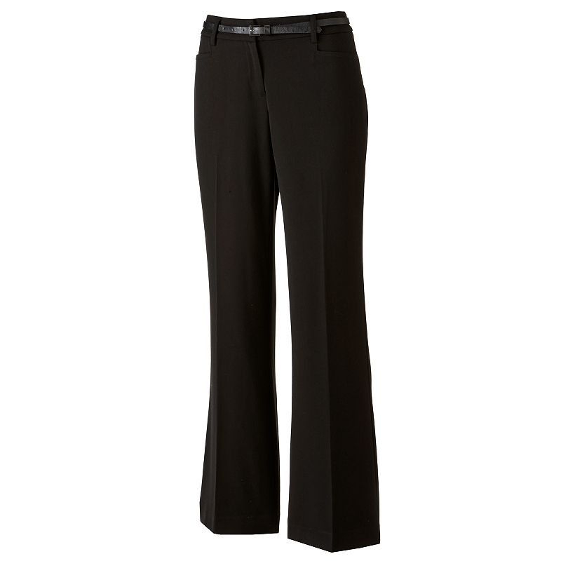 Apt. 9 Curvy Fit Trouser Pants - Women's