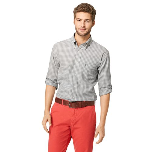 Big & Tall Arrow Checkered Poplin Button-Down Shirt