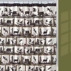 Hautman Brothers Rustic Montage Fabric Shower Curtain