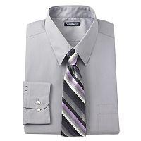 Men's Croft & Barrow® Classic-Fit Point-Collar Dress Shirt with Striped Tie Box Set