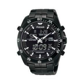 Pulsar Men's Stainless Steel Analog & Digital Chronograph Watch - PW6011
