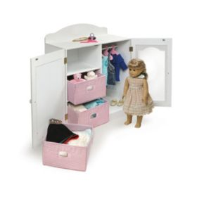 Badger Basket Mirrored Doll Armoire