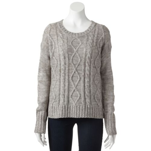 So Cable Knit Sweater Juniors