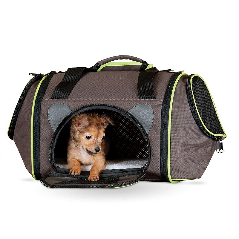 KandH Classy Go Large Pet Carrier, Brown