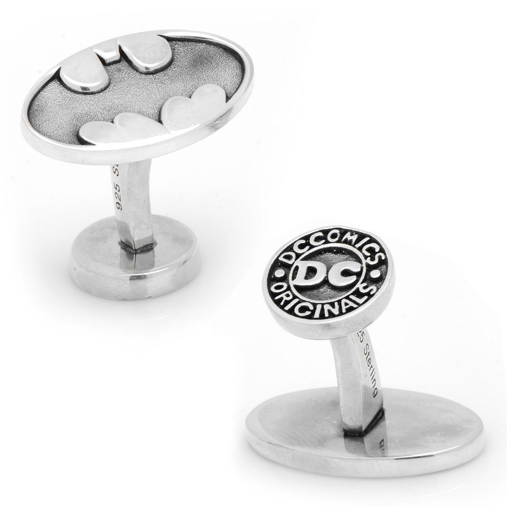 DC Comics Batman Sterling Silver Cuff Links