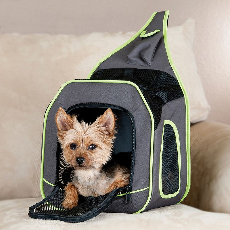 KandH Classy Go Sling Backpack Pet Carrier, Brown