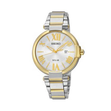 Seiko Women's Two Tone Stainless Steel Solar Watch - SUT174