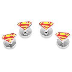 DC Comics Superman Shield Tuxedo Studs