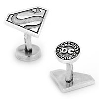 DC Comics Superman Shield Sterling Silver Cuff Links