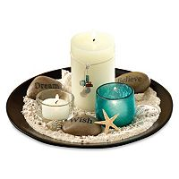 Estrella Garden 10 pc Candle & Tray Set