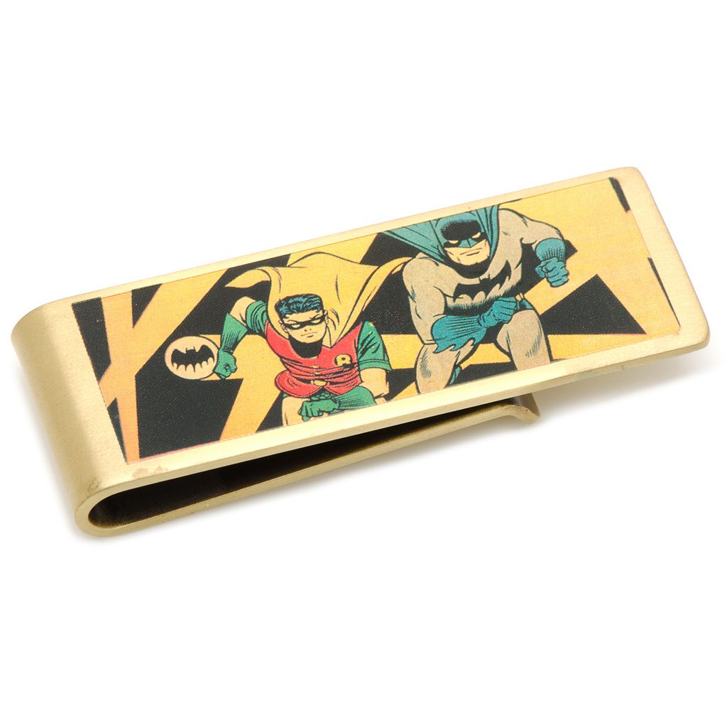 DC Comics Vintage Batman and Robin Bronze-Plated Money Clip
