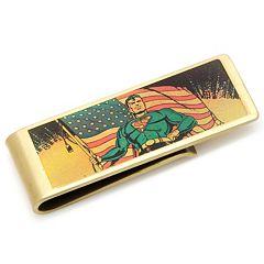 DC Comics Vintage Patriotic Superman Bronze-Plated Money Clip