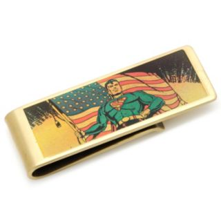 DC Comics Vintage Patriotic Superman Bronze-Plated Money Clip