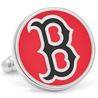 Classic Boston Red Sox Nickel-Plated Cuff Links