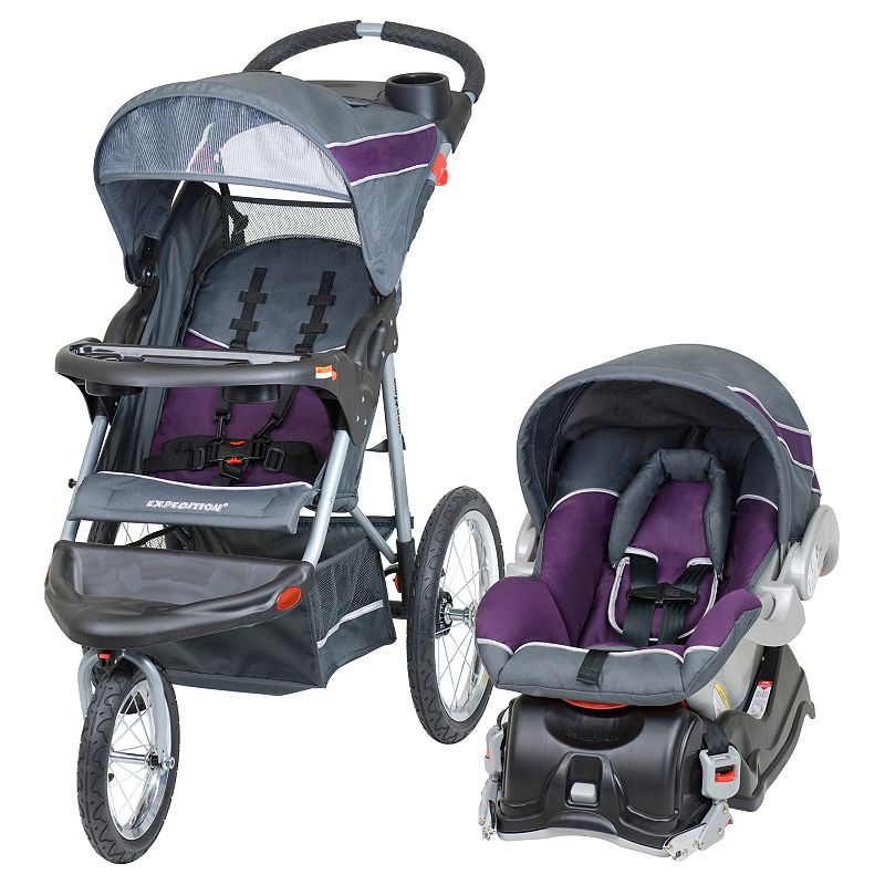 Baby Trend Car Seat and Jogging Stroller Travel System, Grey