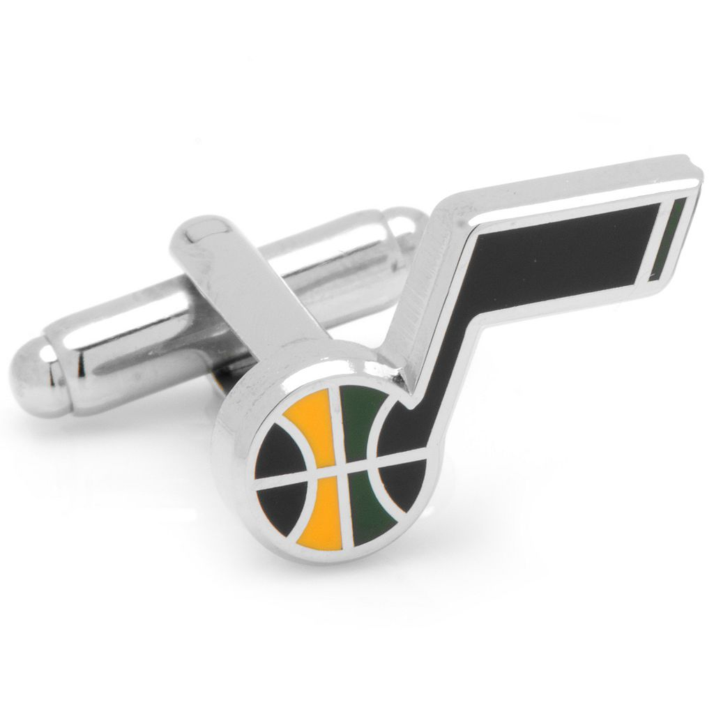 Utah Jazz Silver-Plated Cuff Links