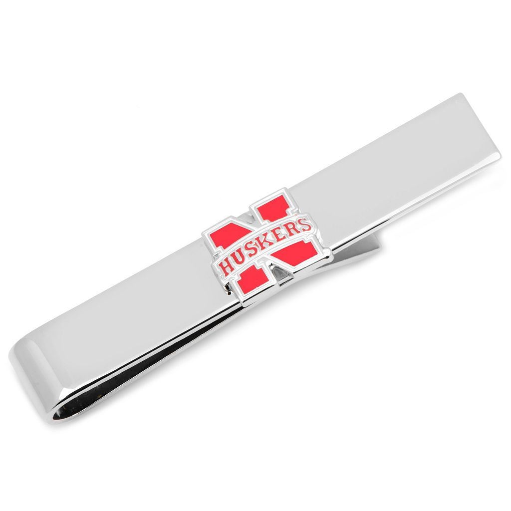 Nebraska Cornhuskers Rhodium-Plated Tie Bar