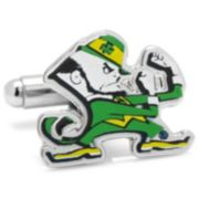 Notre Dame Fighting Irish Leprechaun Nickel-Plated Cuff Links