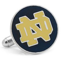 Notre Dame Fighting Irish Nickel-Plated Cuff Links
