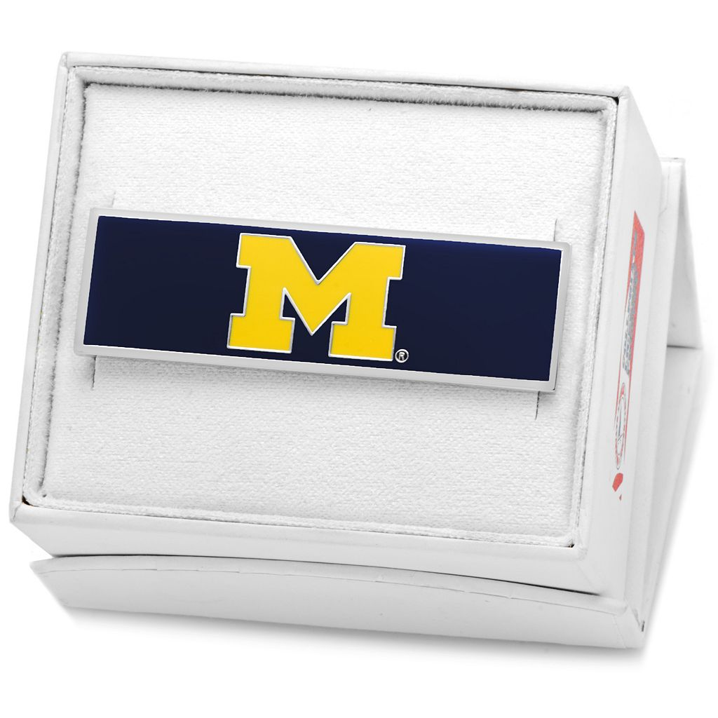 Michigan Wolverines Silver-Plated Money Clip