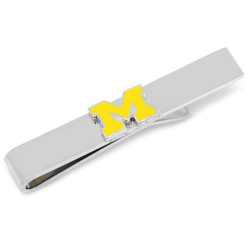 Michigan Wolverines Silver-Plated Tie Bar