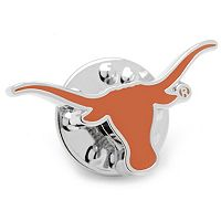 Texas Longhorns Silver-Plated Lapel Pin