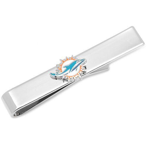 Miami Dolphins Rhodium-Plated Tie Bar