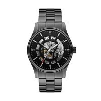 Caravelle New York by Bulova Men's Arnold Stainless Steel Automatic Skeleton Watch - 45A121