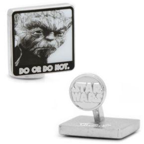"""Star Wars Yoda """"Do Or Do Not"""" Cuff Links"""
