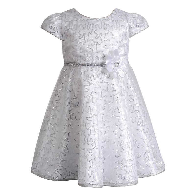 Youngland Squiggle Sequin Flower Dress - Girls 4-6x