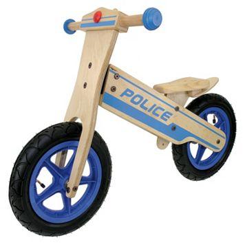 Tour de France 12-in. Wooden Police Balance Bike - Boys