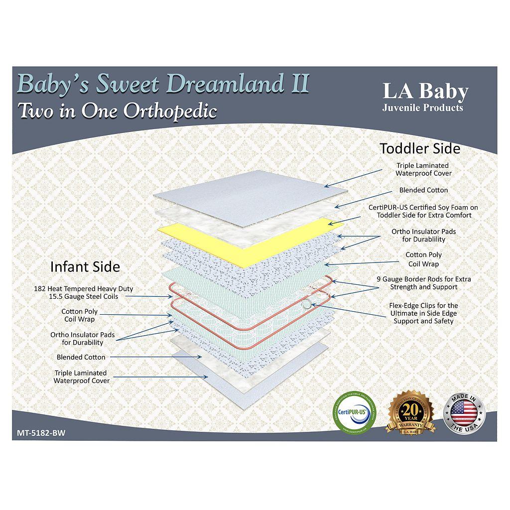 LA Baby Baby's Sweet Dreamland II 2 in 1 Orthopedic Crib Mattress