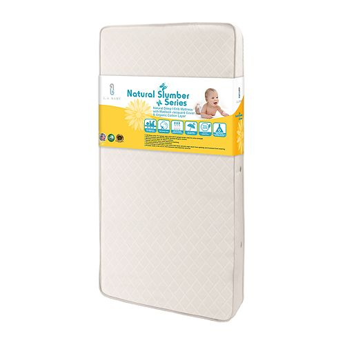 LA Baby Natural Sleep I Crib Mattress with Madison Jacquard Cover