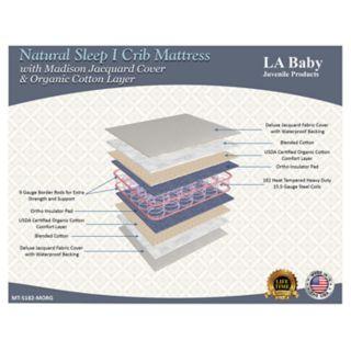 LA Baby Natural Sleep I Crib Mattress with Madison Jacquard Cover