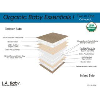 LA Baby Essentials I 2 in 1 Cotton Crib Mattress