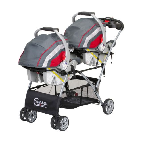 The Baby Trend Double Snap N Go Stroller Frame is the perfect choice to take your baby for outings. It allows you to fix two infant car seats on the carriage frame even when the child is seated on it. Parents will love it, as this infant stroller frame is lightweight, compact, and easy-to-use.