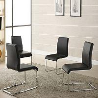 HomeVance 4 pc Grener Side Chair Set