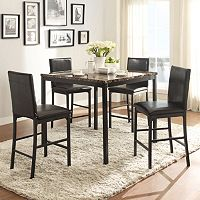 HomeVance Catania 5-piece Dining Table & Counter Chair Set