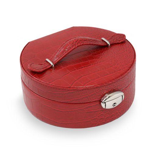 Bey-Berk Faux Leather Jewelry Case