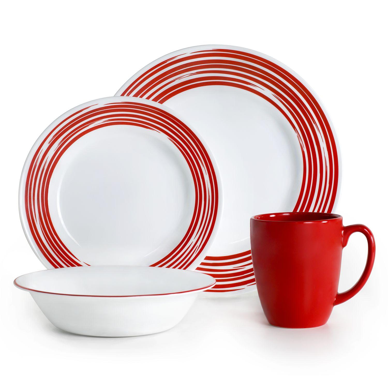 Corelle Brushed 16-pc. Dinnerware Set  sc 1 st  Kohl\u0027s & Corelle Dinnerware \u0026 Serveware Kitchen \u0026 Dining | Kohl\u0027s