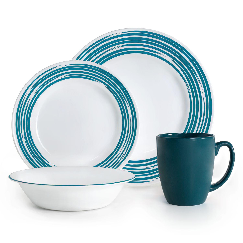 Corelle Brushed 16-pc. Dinnerware Set  sc 1 st  Kohl\u0027s & Blue Dinnerware Sets - Dinnerware \u0026 Serveware Kitchen \u0026 Dining ...