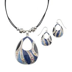 Teardrop Pendant Necklace & Earring Set