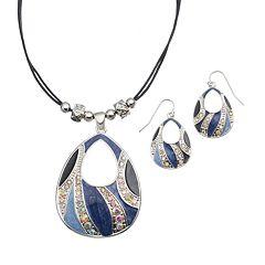 Teardrop Pendant Necklace & Earring Set